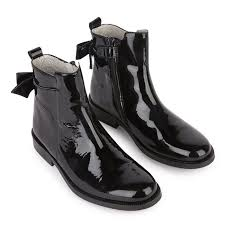 tartine et chocolat patent leather boots 263393