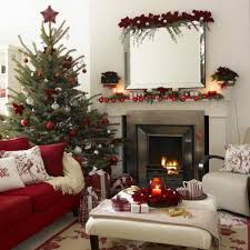 Living Room Christmas Decoration Home Design Traditional Apartment Interior Design Warm Living