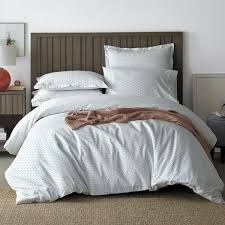 spotlight 2 piece white gray cotton percale twin duvet cover set