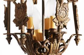 vintage spanish style brass pendant light fixture