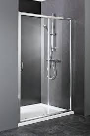 contemporary sliding shower doors. interesting sliding shower doors with metal linen installed in modern bathroom tiled flooring contemporary