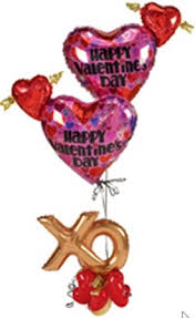 xo valentines day balloon bouquet