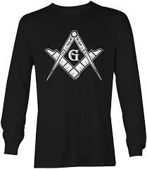 Designer Brand With Compass Logo Freemason Logo Illuminati Square Compass Unisex Long Sleeve Shirt