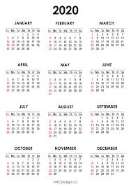 Printable Calendars 2020 With Holidays 2020 Calendar Printable Free Calendar With Us Holidays