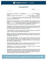 Family Loan Template Family Loan Letter Template