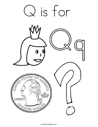 Small Picture Letter Q Coloring Pages Twisty Noodle