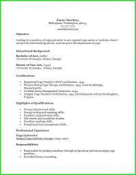 Yoga Teacher Resume Template Download Resume Resume
