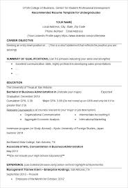 what are some good achievements to put on a resume college of business  resume example template