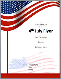 american template american flyer template 4th july free flyer templates