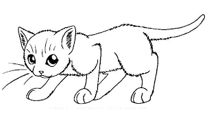 Cat Coloring Page Little Girl Coloring Pages Cat Colouring Pictures