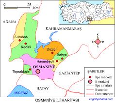 osmaniye türkiye haritası ile ilgili görsel sonucu