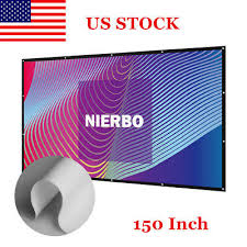 nierbo 150 inch big projector screen 16 9 outdoor theater tv projection us