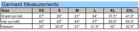 Holloway Apparel Size Chart M Frenzy 229769 Holloway Pants