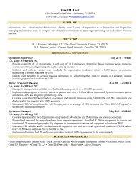 Resume Examples For Military Resume Cv Cover Letter