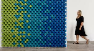 scale turns the acoustic wall panel on its ear designed as a university project by vanessa busemann and felix zebi with german design collective