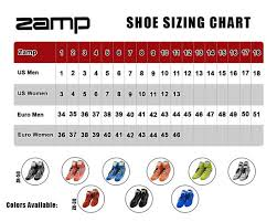 Racing Shoe Size Chart Zamp Size Charts Z Sports