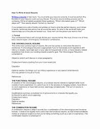 How To Make A Good Resume On Word Functional format Resume Best Of Download How to Make Proper Resume 18