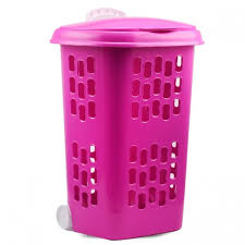 Pink Plastic Laundry Basket Delectable Buy Plastic Laundry Basket With Lid Wheel Purple توصيل Taw60eel