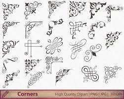 corner calligraphy swirls clipart wedding invitation clip Wedding Invitation Flourish Graphics Wedding Invitation Flourish Graphics #25 Handmade Wedding Invitations
