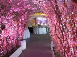 cherry blossom wedding decor greenscape design decor