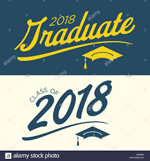 congratulations to graduate class of 2018 congratulations graduate typography stock vector