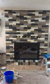painting fireplace adding grey