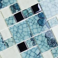 crystal glass mosaic kitchen tiles washroom backsplash bathroom blue and white tile le glass patterns design