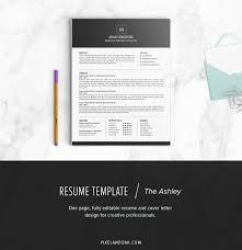 Resume Template The Ashley Resume Templates Creative Market
