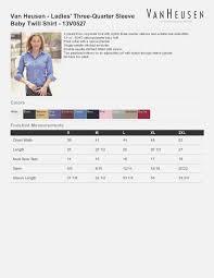 Van Heusen Size Chart