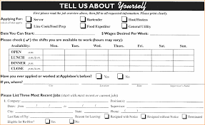 applebee s employment application print out shantytown employment applica pic source