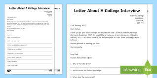 College Worksheet Entry Level 1 Reading Comprehension College Interview