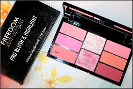 freedom makeup london pro blush palette pink and baked review swatches