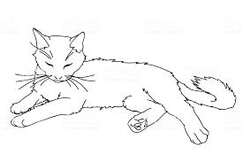 かわいいリアルな猫を敷設しますキティは白い背景で隔離のベクトル