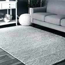 gray and white rug 8x10 area woolen cable hand woven light navy striped blue