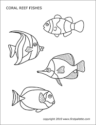 Kids color and cut out a spiral snake, exercising their fine motor skills on this prekindergarten arts and crafts and coloring worksheet. Sea Animals Free Printable Templates Coloring Pages Firstpalette Com