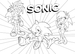 Small Picture Sweet Looking Sonic And Friends Coloring Pages 10 21 Sonic The