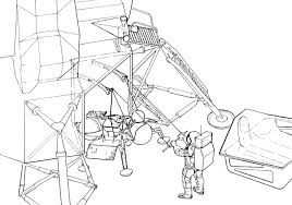 Diagram apollo 11 lunar module diagram an astronaut deploys the from a partment in side