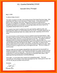 Letter To School Principle 12 Example Of A Formal Letter To A School Principal Pennart