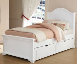 ... Kids room, White Twin Bed With Trundle Drawer Solid Wood Twin Bed Frame  Kids White ...
