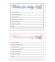 Wishes For Baby Template Free Printable Baby Shower Wish Cards For Baby