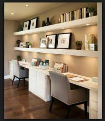 shelves for home office. Desk With Under Lit Floating Shelves For Home Office O