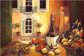 kitchen in tuscany painting karel burrows kitchen in tuscany art print