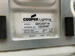 Cooper Lighting Qdcast1a Cooper Lighting Qdcast1a Quadcast 56w Led Parking Garage Luminaire Light Fixture