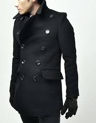 long mens pea coat trendy new style black wool long pea coat mens grey pea coat