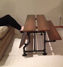 Iron And Wood Coffee Table Handmade Iron Pipe Cherry Wood Coffee Table By Custom