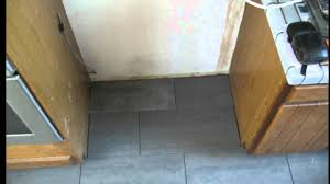 Kitchen Floor Installation Kitchen Floor Tile Installation Tips Behind The Refrigerator
