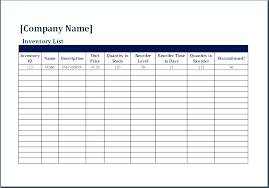 Moving Inventory List Template Excel Checklist Office Move