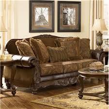 signature design by ashley fresco durablend antique sofa