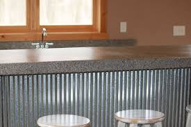 custom bar top exposed aggregate concrete ground and polished