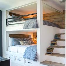 built in bunk bed ideas. Perfect Bed Built In Bunk Beds With Stairs Love The Raw Wood Planking On Wall  Treads Stairs Railing Top And Drawers Below Bottom To Built In Bunk Bed Ideas I